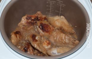Курица с мёдом и лимоном в соевом соусе