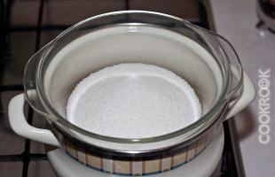 сахар на паровой бане