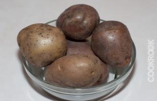 вареный картофель в мундире