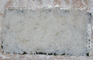 рис на листе нори