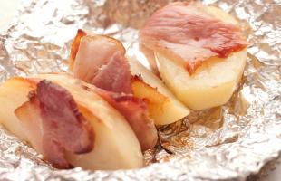 картофель запечённый в беконе