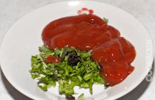 шашлычный кетчуп с зеленью