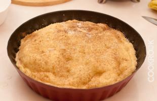 яблочный пирог из песочного теста с ежевикой
