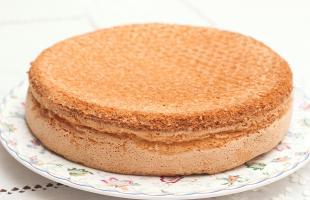 классический бисквит для торта