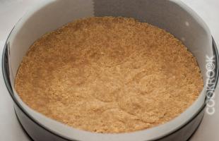 основа из печенья для чизкейка