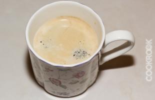 Свежесваренный кофе эспрессо