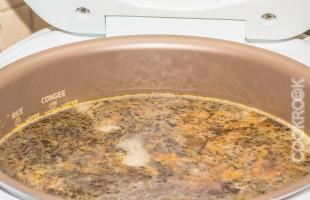 суп с белыми грибами в мультиварке
