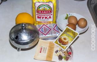 Продукты для апельсиновых маффинов
