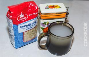 как приготовить бурый рис