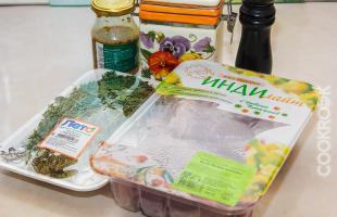 продукты для приготовления филе индейки в духовке