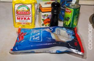 продукты для приготовления кальмаров в пивном кляре
