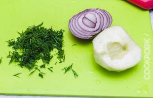 овощи для канапе с сельдью