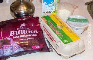продукты для клафути с вишней