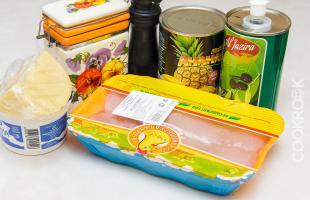 продукты для курицы с ананасами в мультиварке