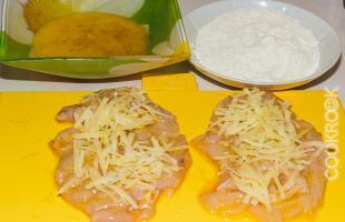 куриная котлета с сыром