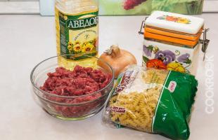 продукты для макароны по-флотски в мультиварке