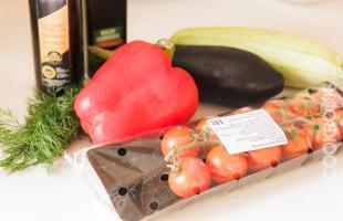 продукты для овощей в духовке