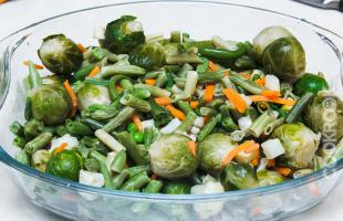 овощная смесь в духовке