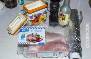 продукты для приготовления свинины в мультиварке