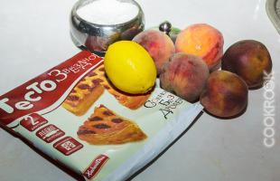 продукты для тарт с персиками