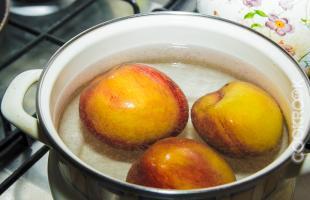 ошпаривание персиков