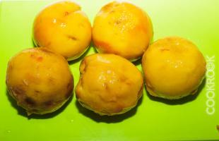 персики для тарт татен