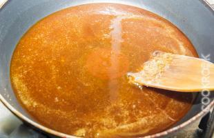 карамель для пирога перевертыша