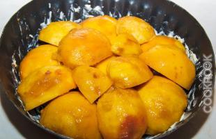 персики для пирога-перевертыша