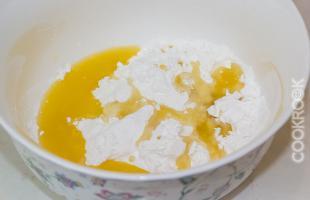 сахарная пудра с апельсиновым соком