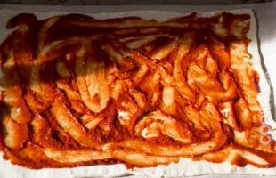 тесто с томатной пастой