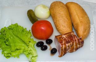 продукты для бутерброда