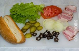 овощи для бутерброда