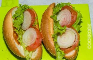 булочка с овощами