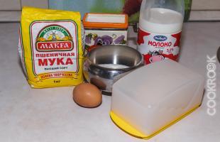 продукты для простого рецепта блинчиков