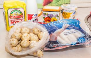 продукты для жульена с кальмарами и грибами