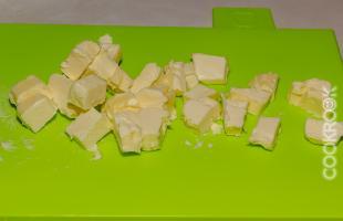 сливочное масло кубиками