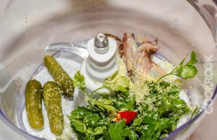 ингредиенты для домашнего соуса тартар