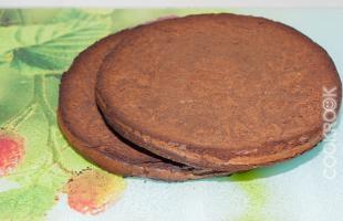бисквитные шоколадные коржи