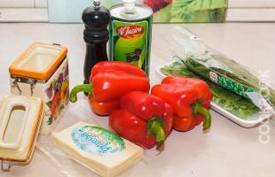 продукты для приготовления рулетиков из перца