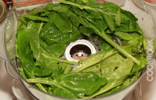 шпинат на пару