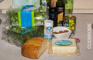 продукты для салата с руколой