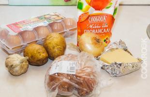 продукты для салата гнездо глухаря