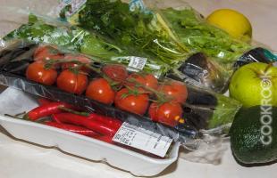 продукты для салата со шпинатом
