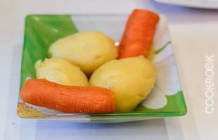 картофель и морковь отварные