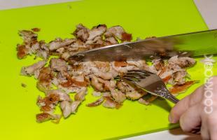 мелко нарезанное филе курицы
