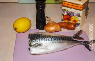 продукты для рецепта скумбрия в фольге в мультиварке