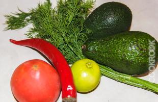 продукты для гуакамоле