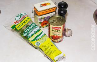 Продукты для соуса из томатов
