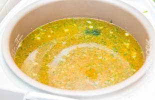 быстрый суп в мультиварке