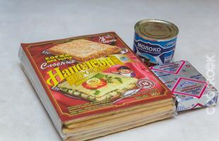 продукты для торта наполеон из готовых коржей